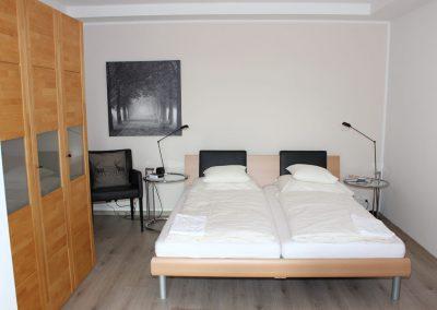 Kleve Ferienwohnung Burggarten Schlafzimmer