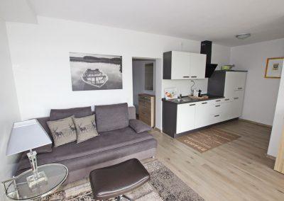 Ferienwohnung Kleve Galleien Wohnraum mit Küche