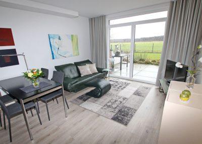 Kleve Ferienwohnung Burggarten Wohnzimmer