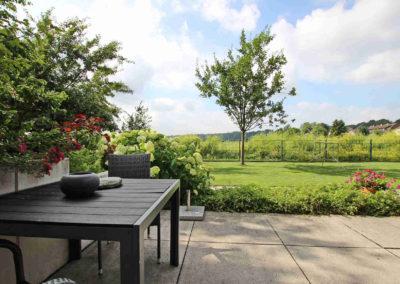 Ferienwohnung Kleve Burggarten Terrasse Aussicht